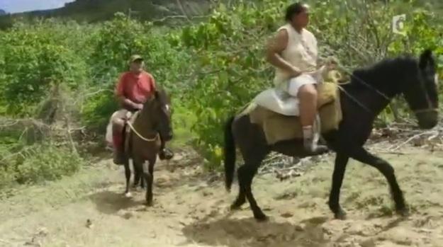 marie-louise et moana à cheval